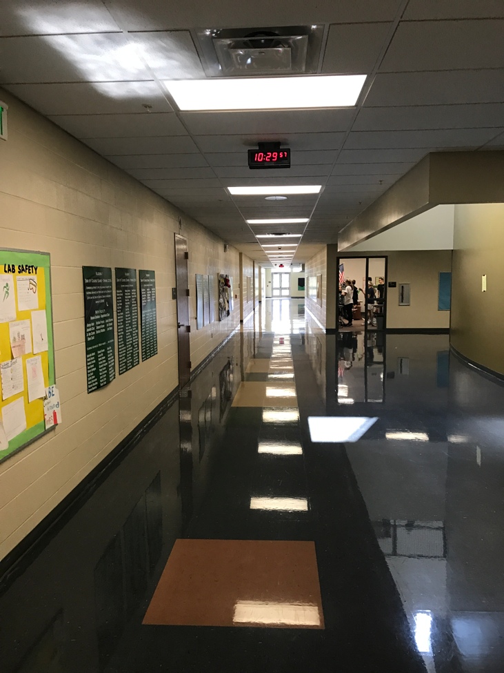 Hallways+are+empty+because+of+the+no+travel+policy+during+falcon+time.
