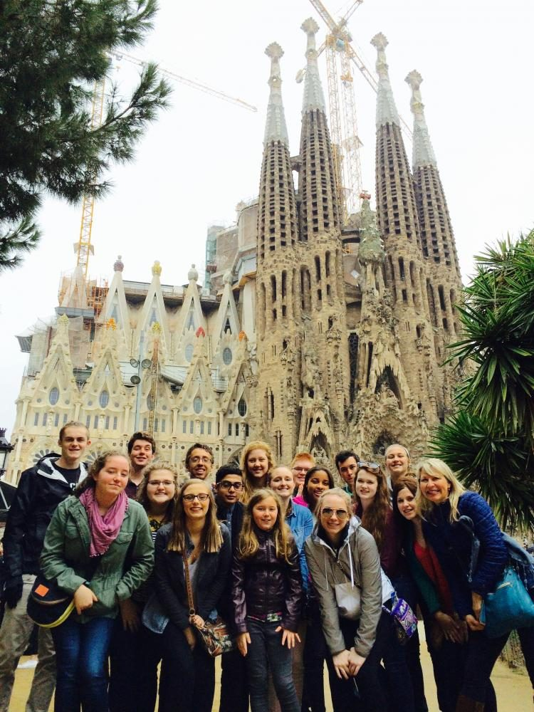 In March of 2016, the Spanish modern language class took the last trip to Spain. This year a new group of students will be traveling to Peru in March of 2018.