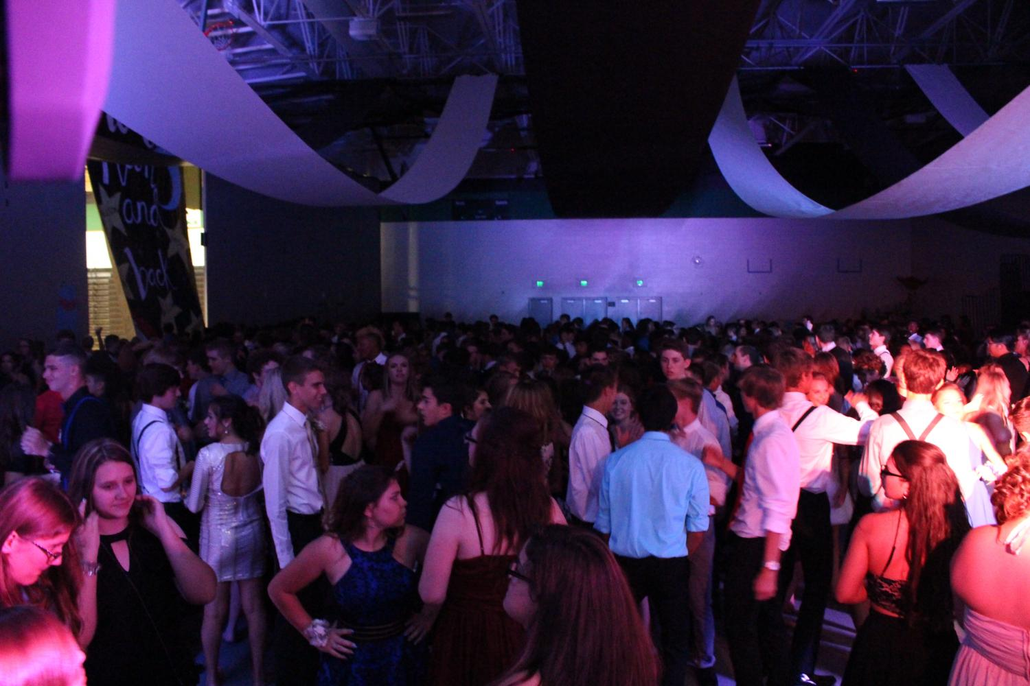 "At the Homecoming dance Sept. 23, more than 700 student showed up. It was the biggest turnout in school history. ""The 'Cupid Shuffle' dance was my favorite because everyone was able to dance to it. I also liked this year's dance better than last year's because there was more participation,"" said sophomore Cole Chambers."